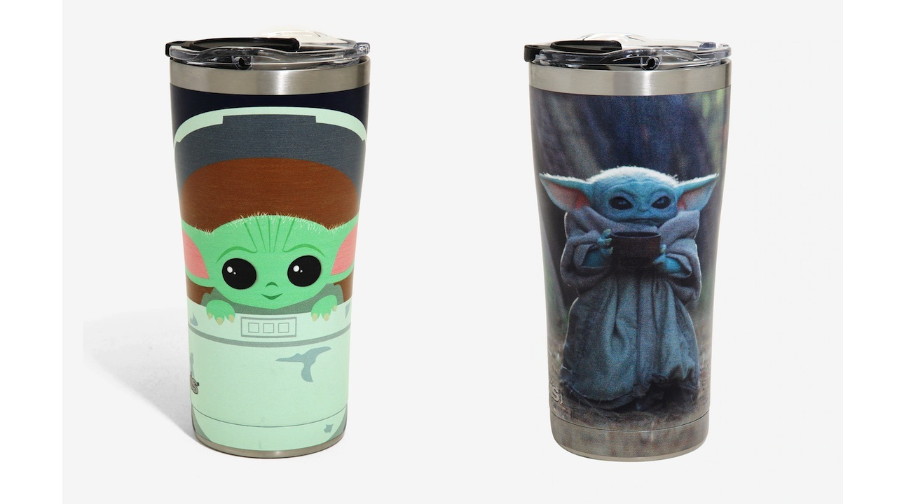 Baby Yoda keeps your drink warm or cold.
