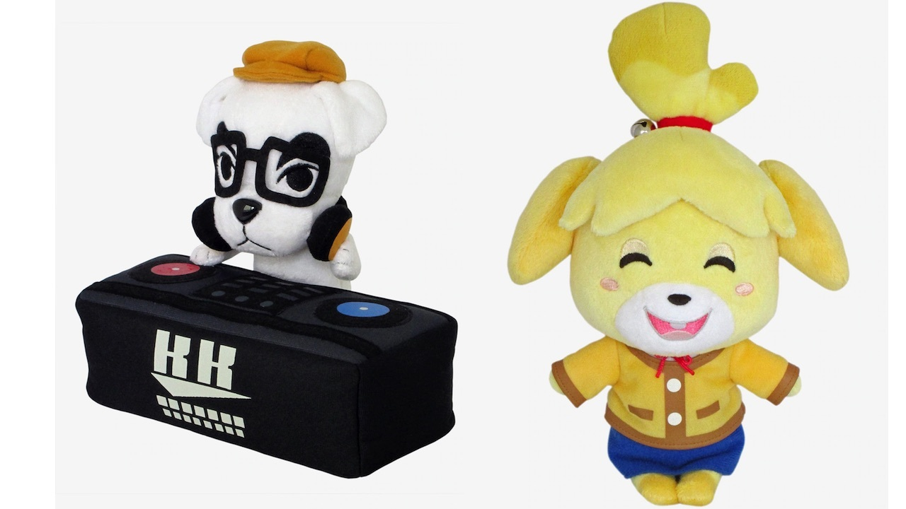 DJ K.K. Slider and Isabelle plush