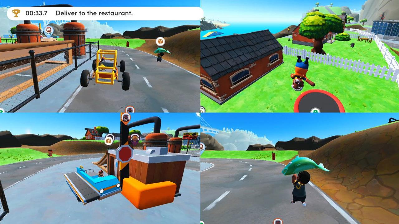 Four player split-screen multiplayer