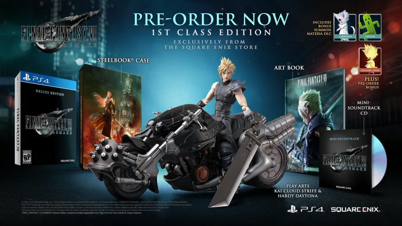 The Square Enix Store has the 1st Class Edition in stock