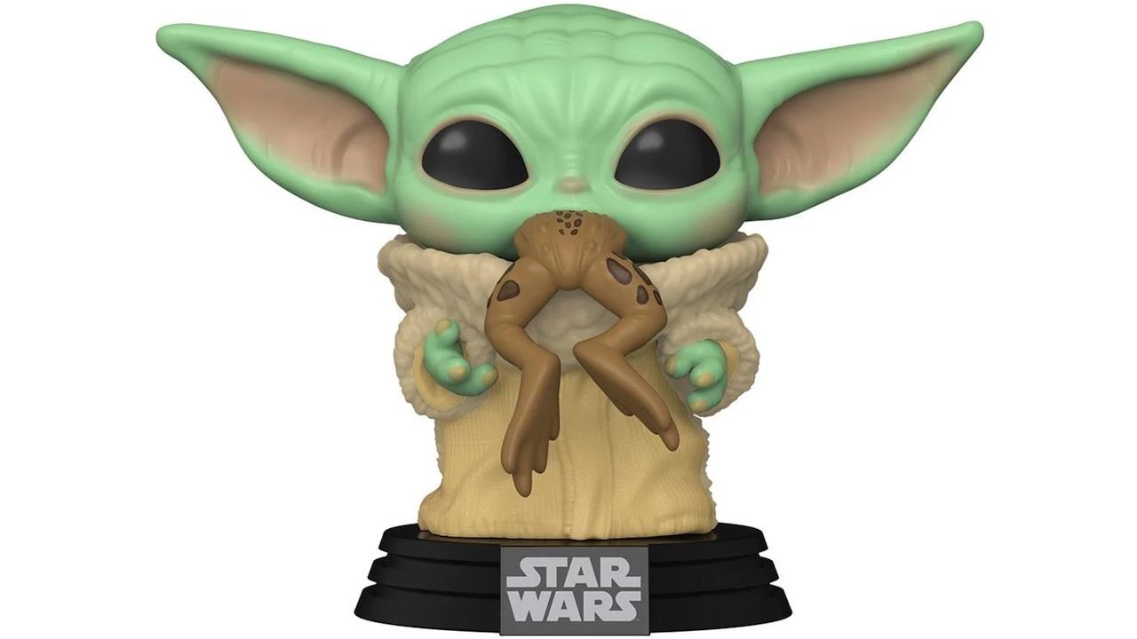 Baby Yoda enjoying a mid-afternoon snack