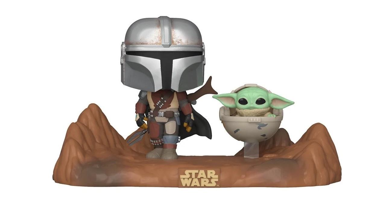 Mando and Baby Yoda going on an adventure