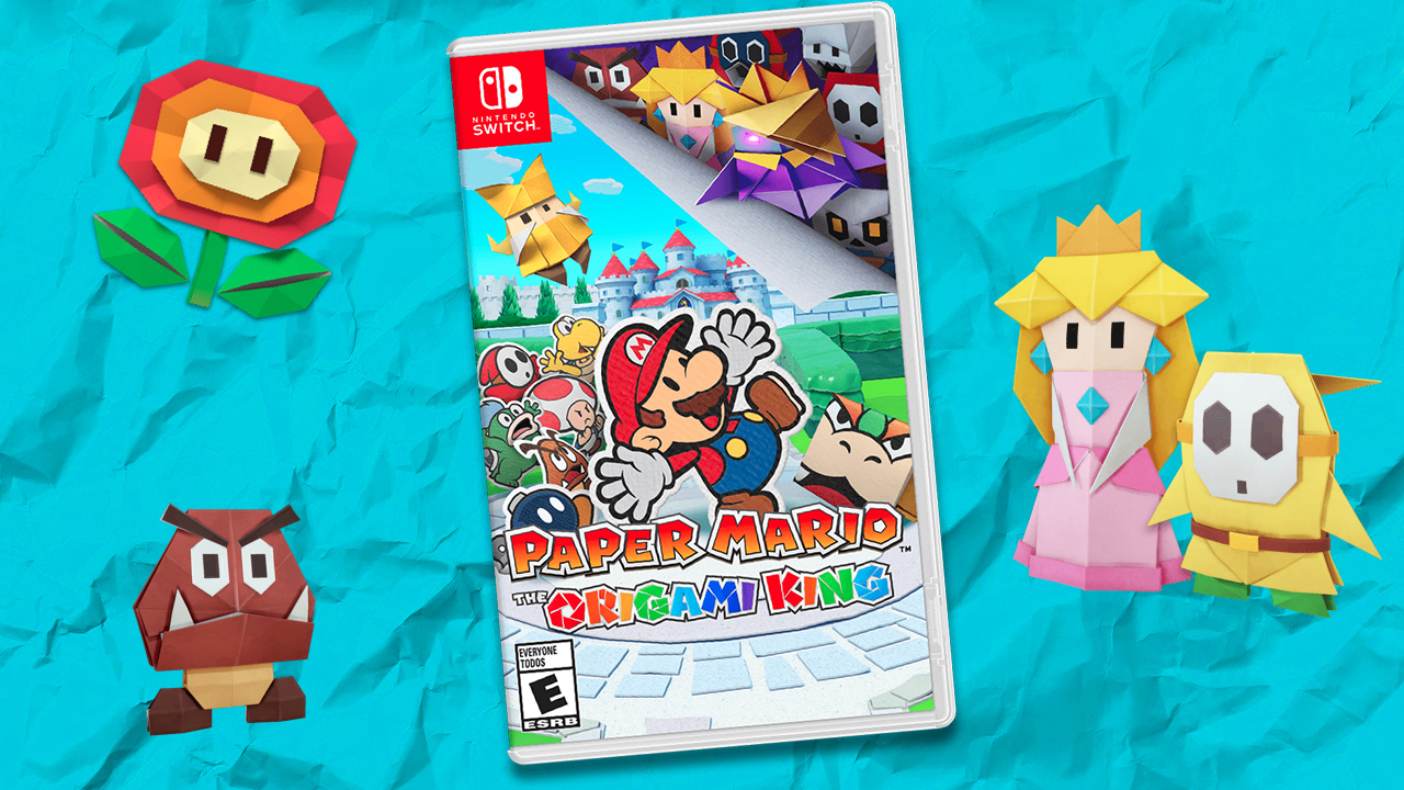 Paper Mario: The Origami King gets a fittingly stylish cover