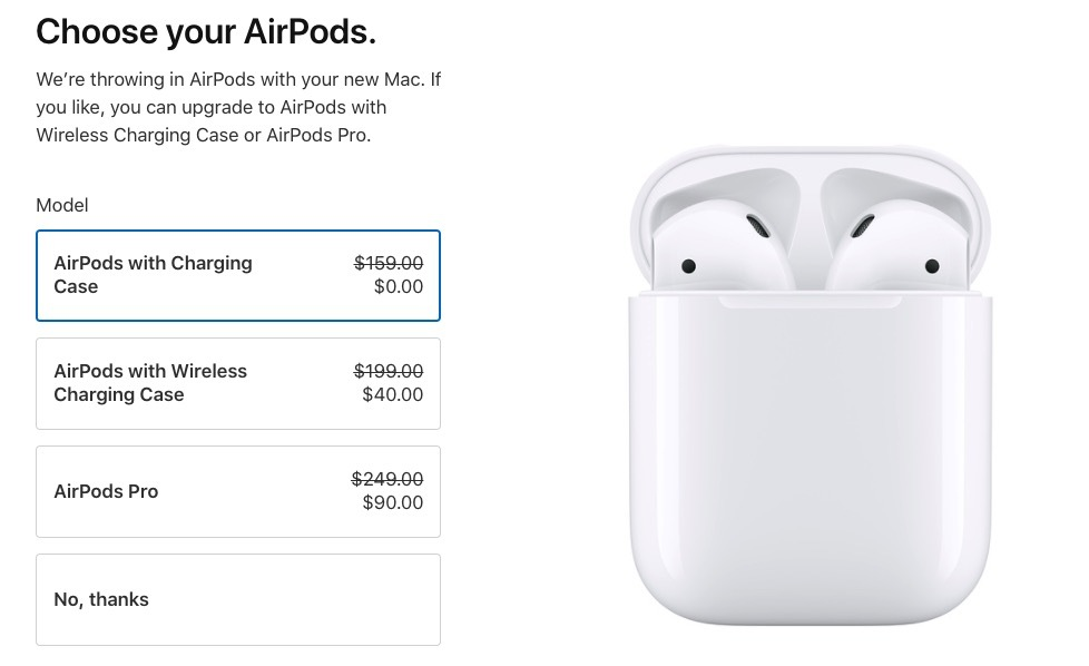 Apple's back to school AirPods promotion