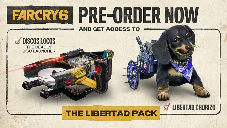 Far Cry 6 preorders come with The Libertad Pack
