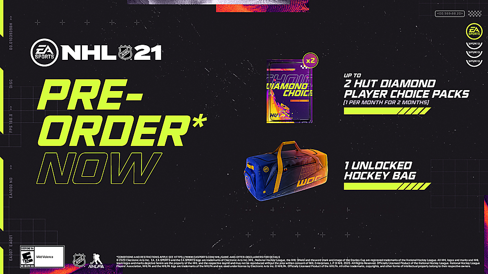 NHL 21 standard edition preorder bonuses