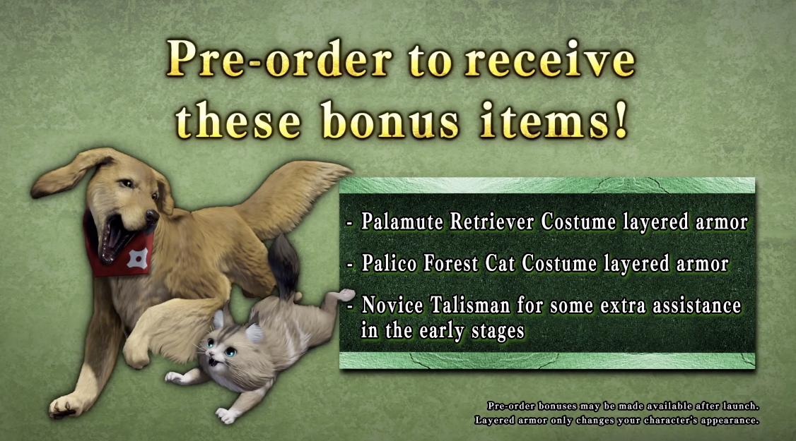 Monster Hunter Rise preorder bonuses