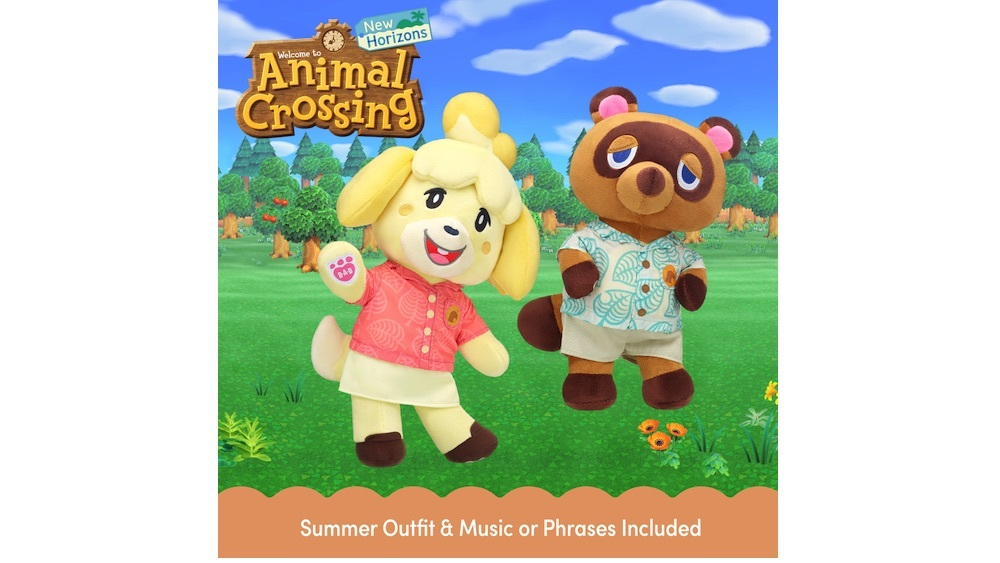 Tom Nook and Isabelle Build-A-Bear