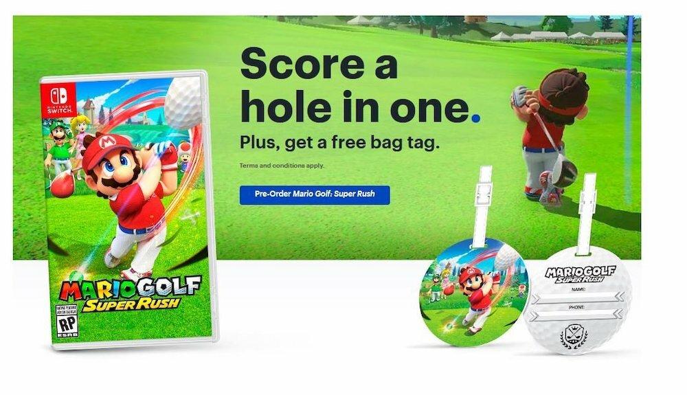 Mario Golf: Super Rush preorder bonus