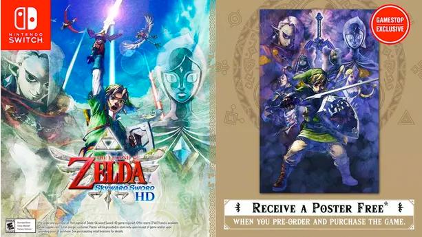 Skyward Sword HD GameStop preorder bonus