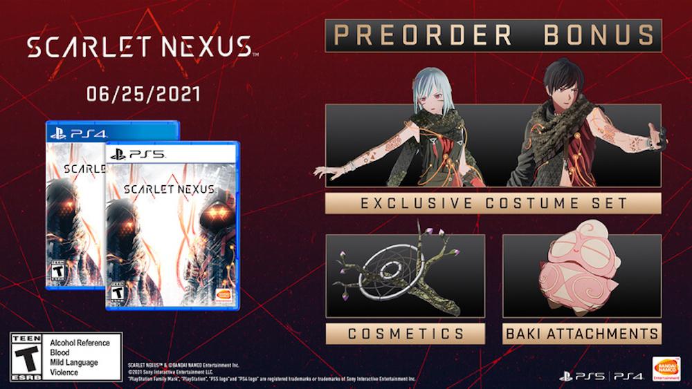 Scarlet Nexus preorder bonuses