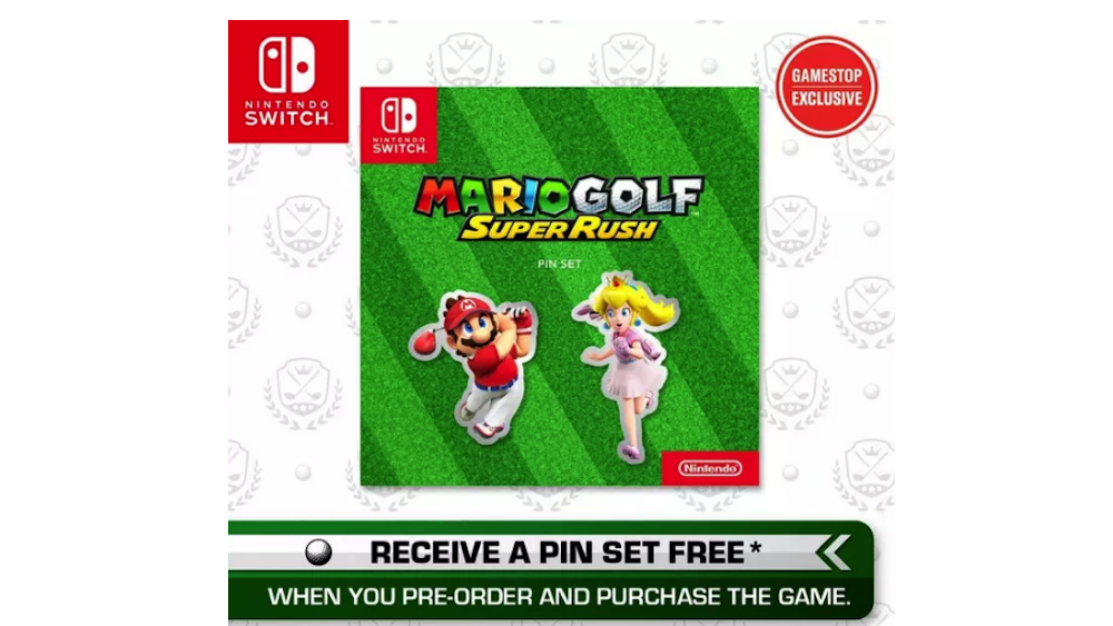 Mario Golf: Super Rush GameStop bonus