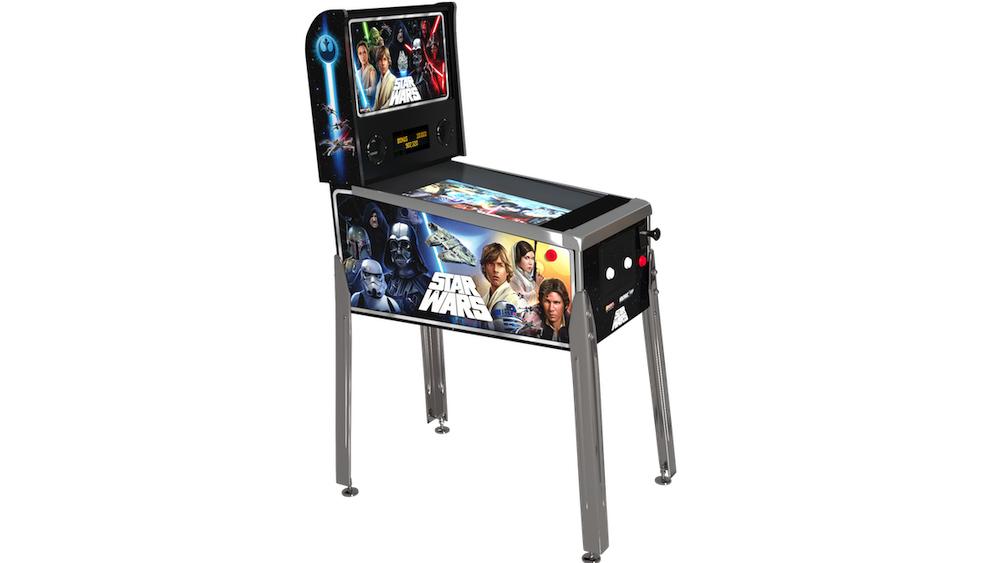 O tamanho compacto torna o Pinball de Star Wars ótimo para uso doméstico.