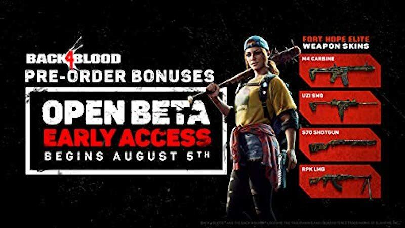 Back 4 Blood preorder bonuses