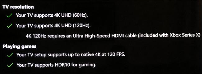 Xbox Series X сообщит вам, поддерживает ли ваш телевизор частоту 120 Гц.