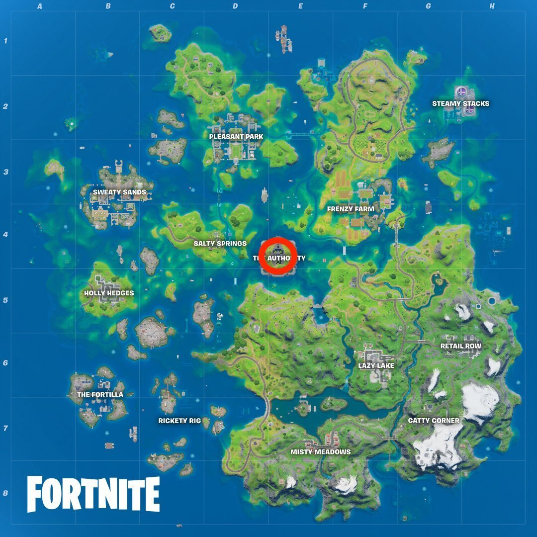 The Authority's location in Fortnite Season 3