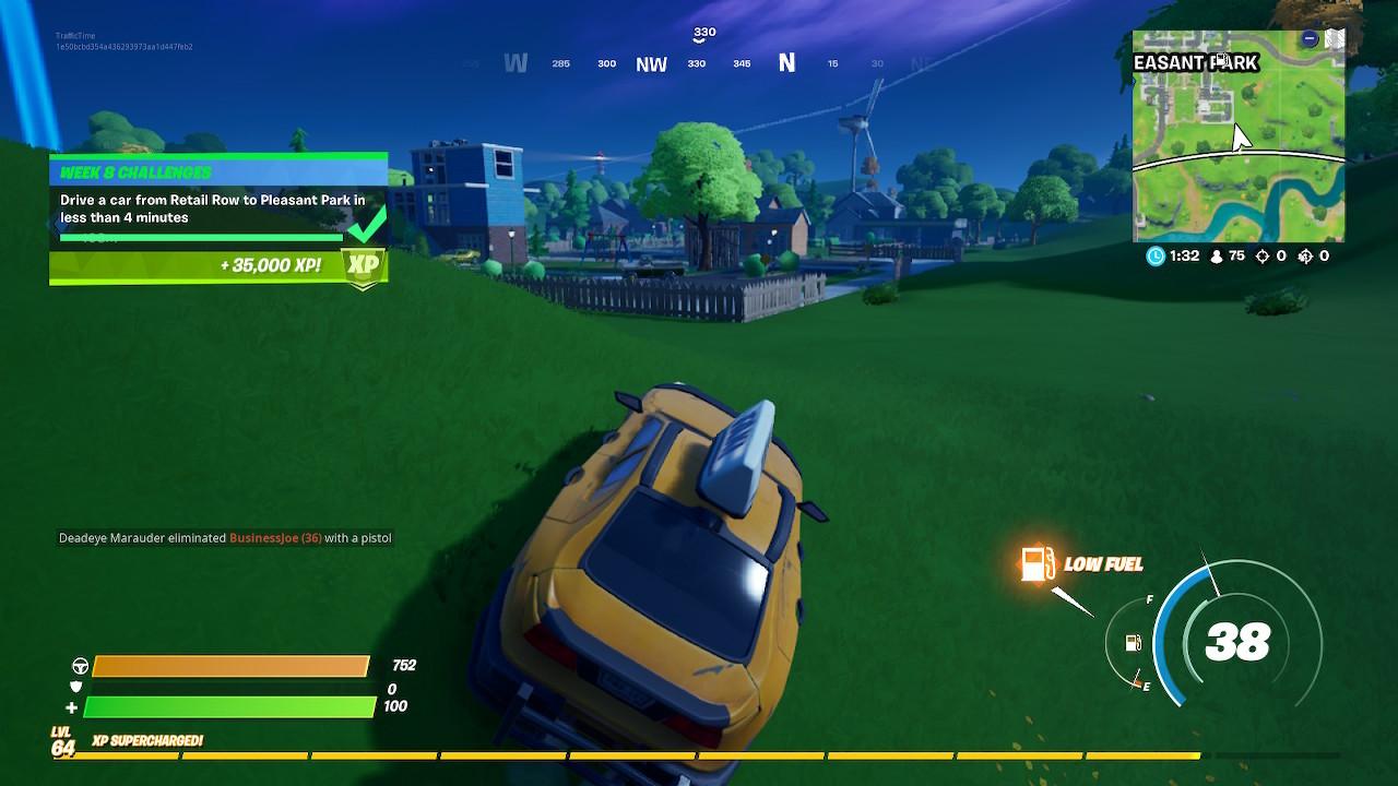 Fortnite Season 3 Driving Challenge