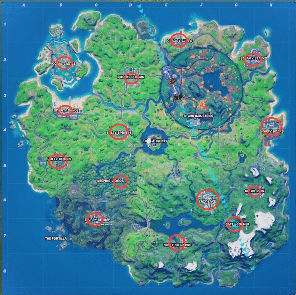 Fortnite Birthday Cake Map Locations