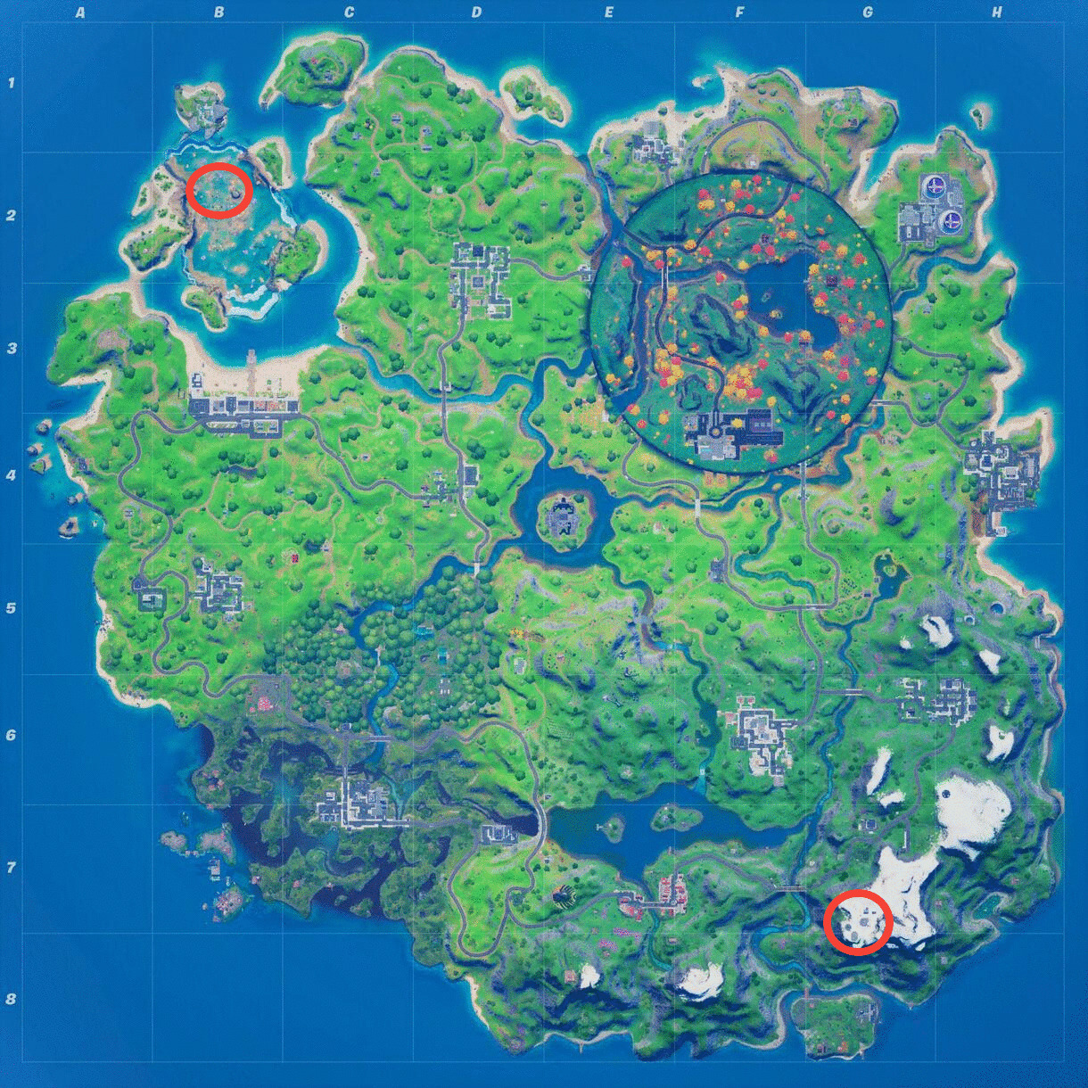 Fortnite Highest And Lowest Point Locations