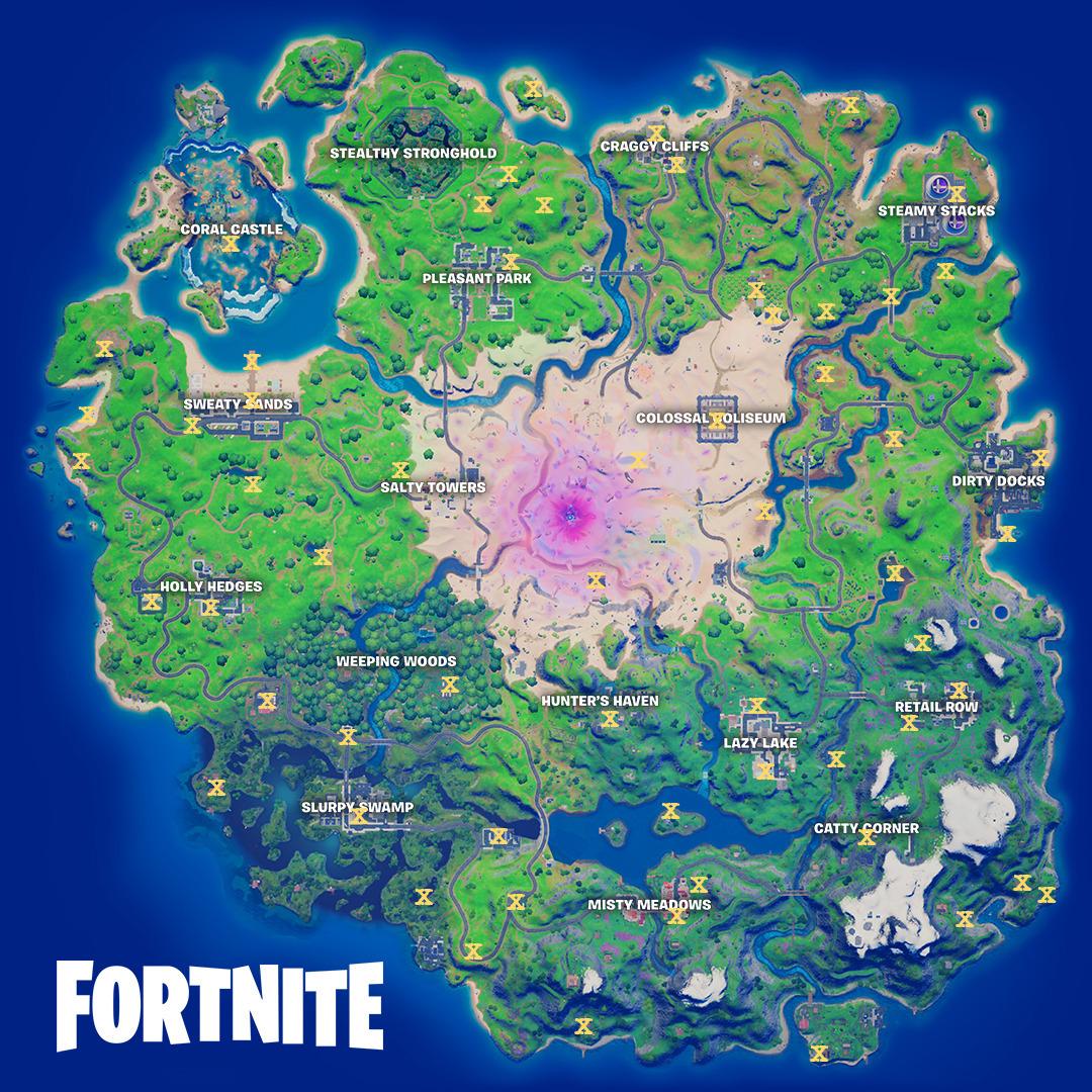Fortnite NPC Map