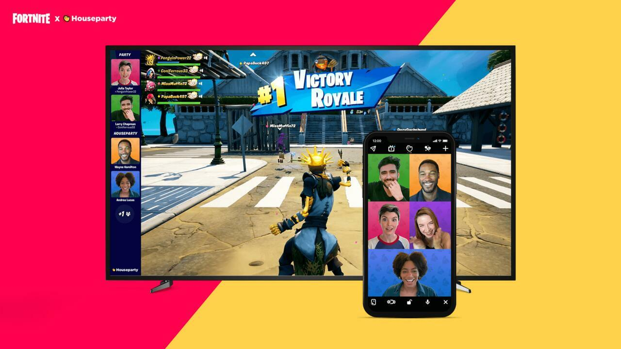 Fortnite's Houseparty video call system.