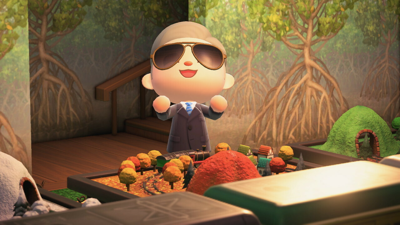 Biden was included in an Animal Crossing island during last year's election