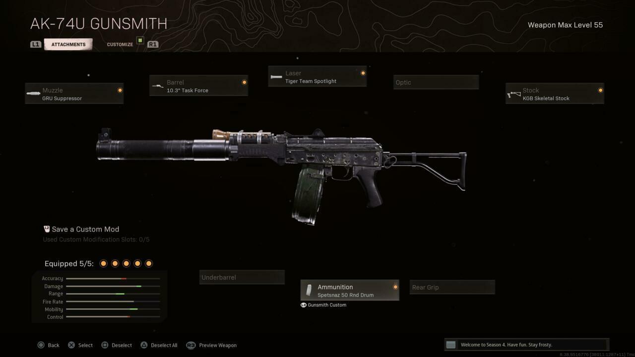 Best AK-74u Loadout