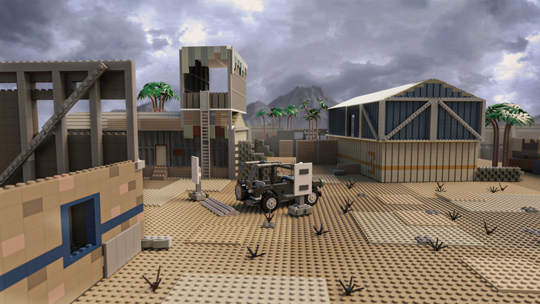 Firing Range is made up of 5,133 bricks and costs $1,988 to build. Image: Diamond Lobby
