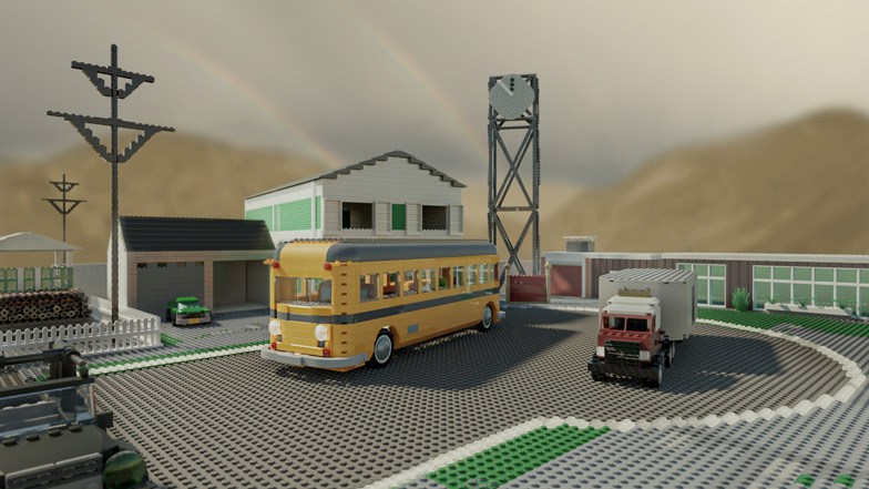 Nuketown is made up of 5,953 bricks and costs $3,033 to build. Image: Diamond Lobby