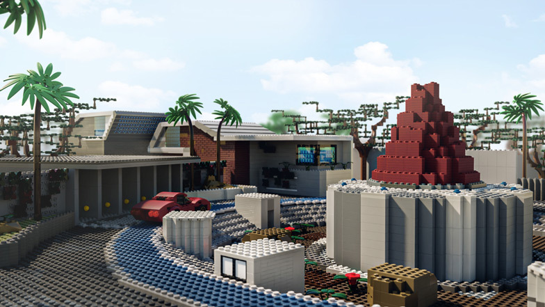 Raid is made up of 14,152 bricks and costs $2,474 to build. Image: Diamond Lobby