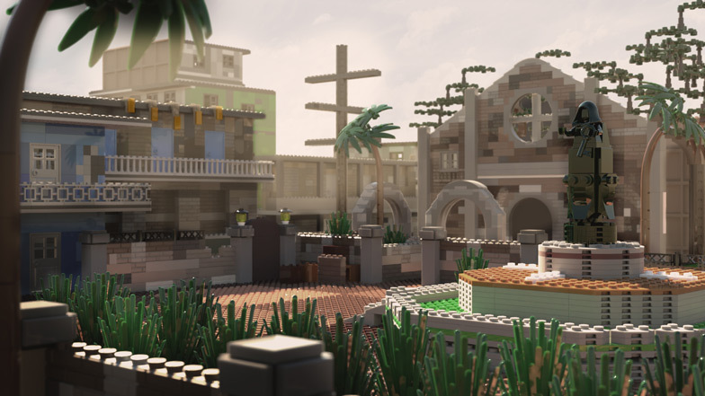 Slums is made up of 3,456 bricks and costs $1,591 to build. Image: Diamond Lobby