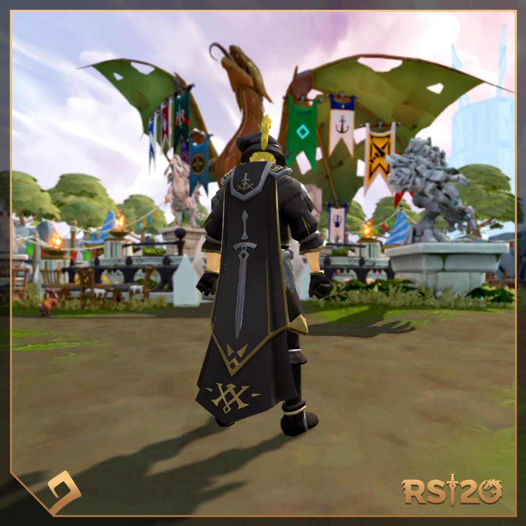 Fancy RuneScape cape.