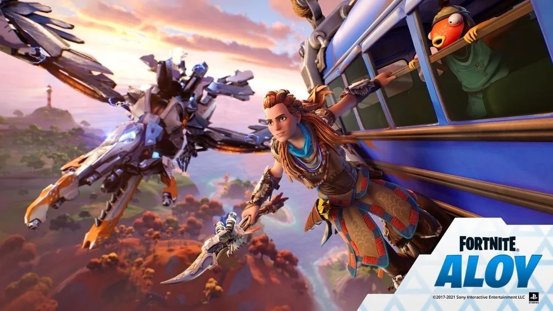 Aloy from Horizon Zero Dawn, given a Fortnite makeover