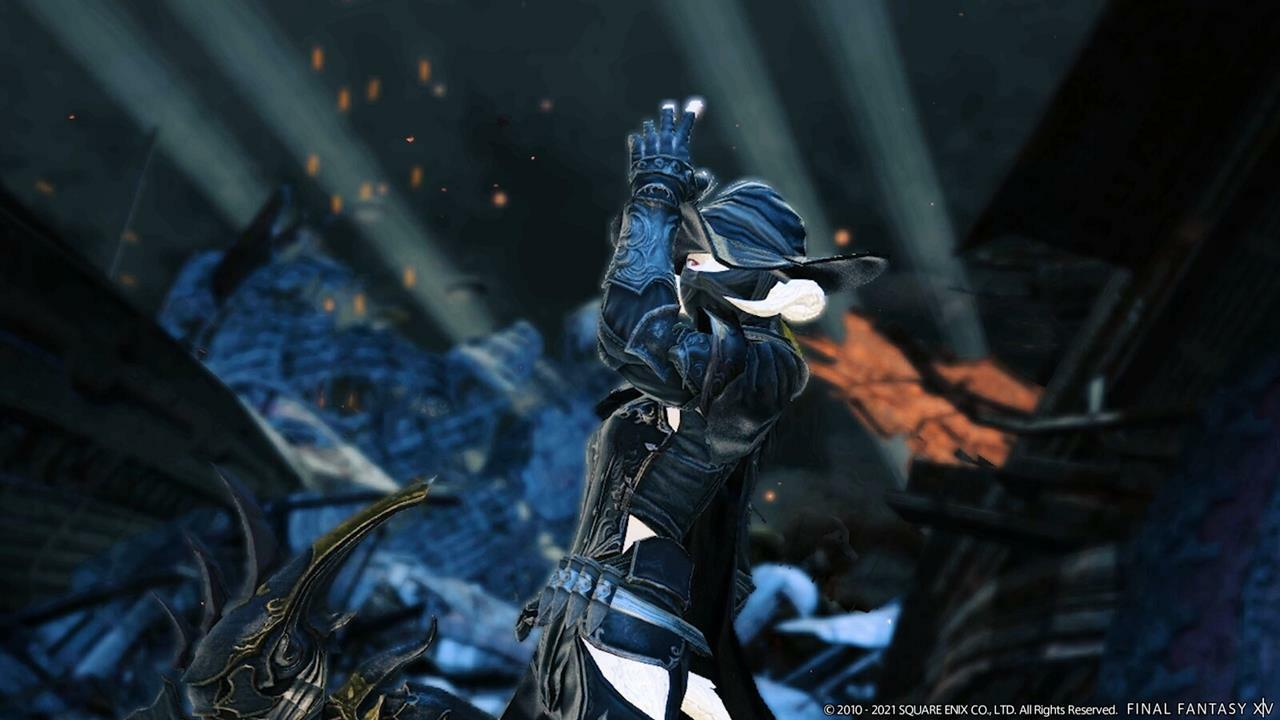 Final Fantasy 14's Reaper in action