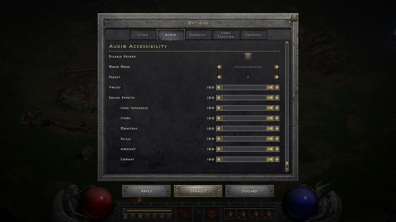 Diablo II: Revived Audio Options