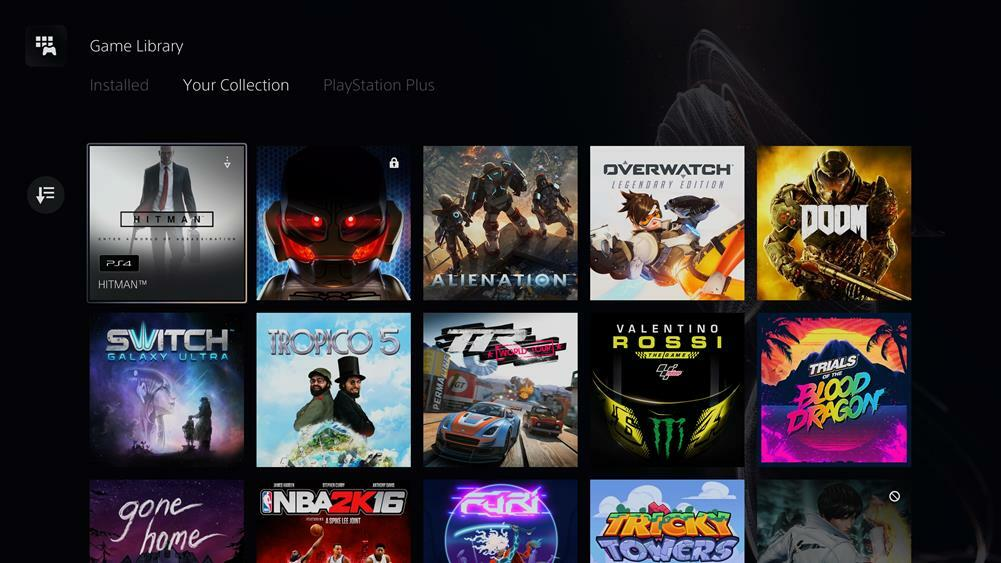 Load PS4 games from your PlayStation library