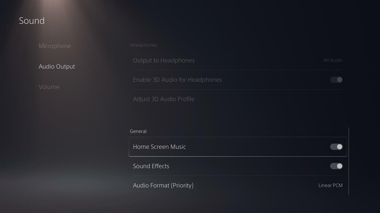How to turn off background music and sound effects on PS5