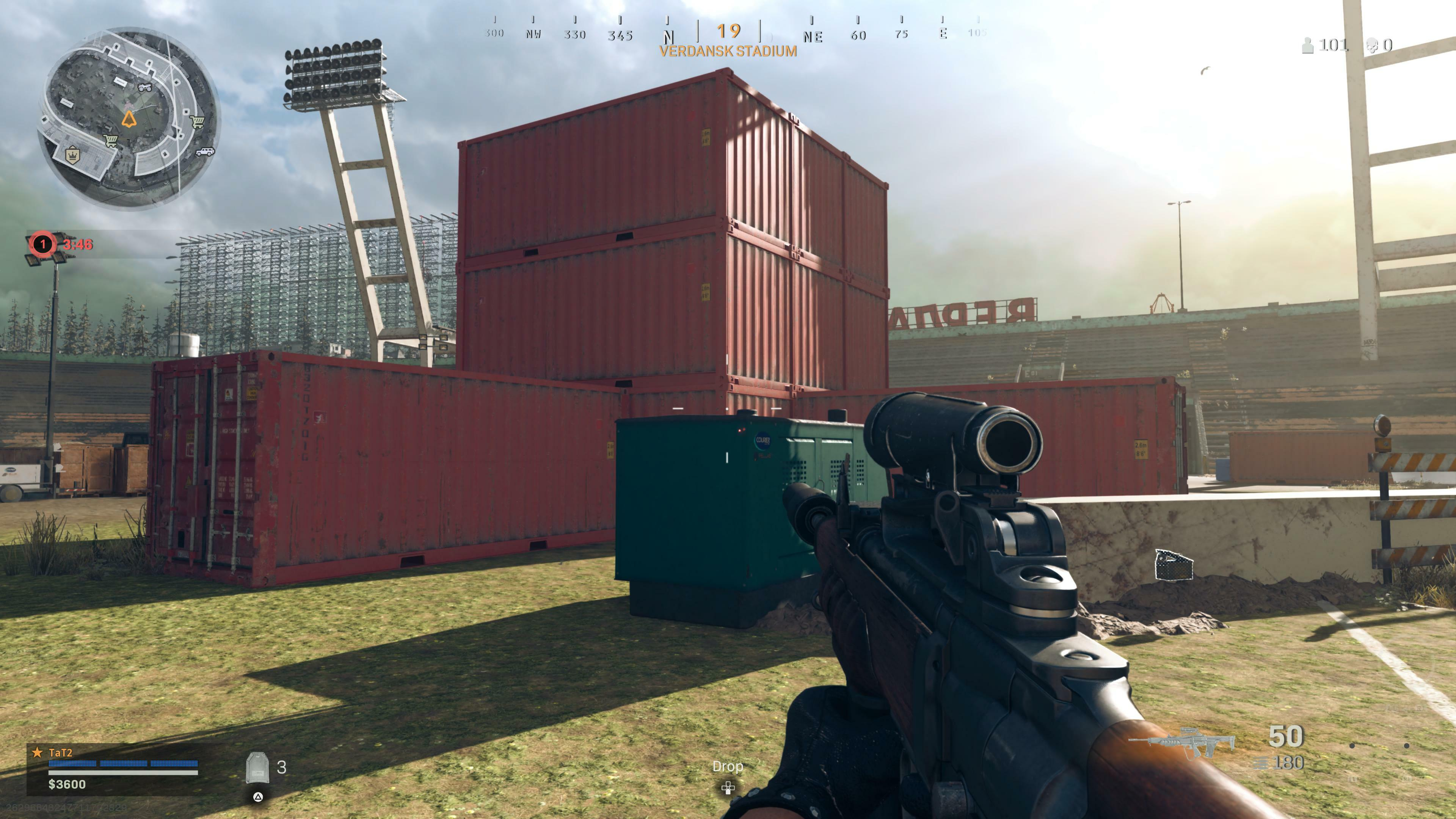 Warzone's odd shipping container stacks