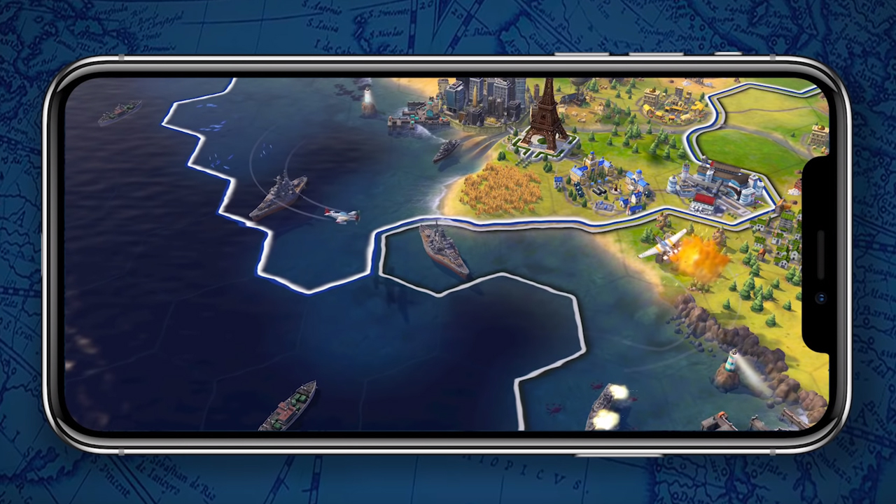 Civ VI on a phone--it's better than you think, but still a little pricey.