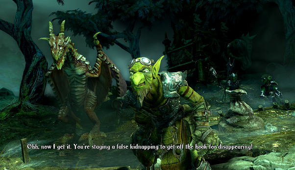 There are also close-ups of the villains in the DLC adventures, and they are charmingly ugly.