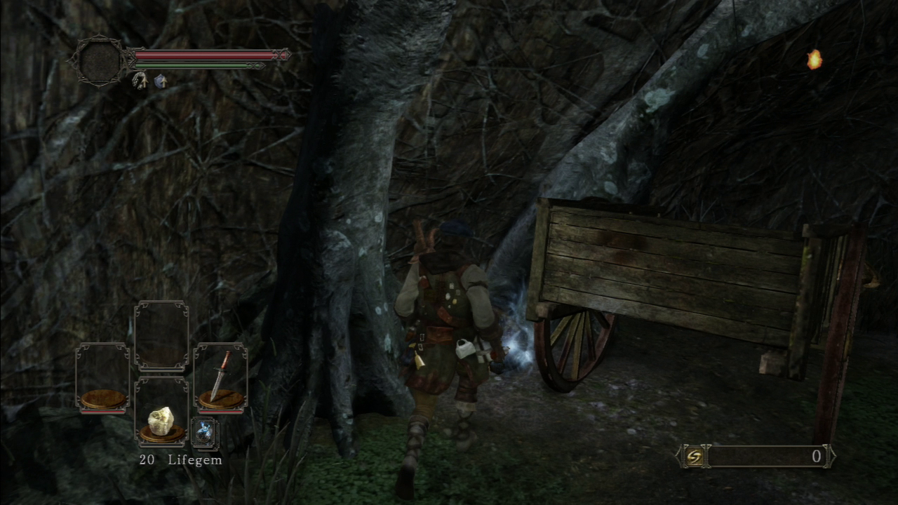 You can, if you want, attack this wagon to get at the items.