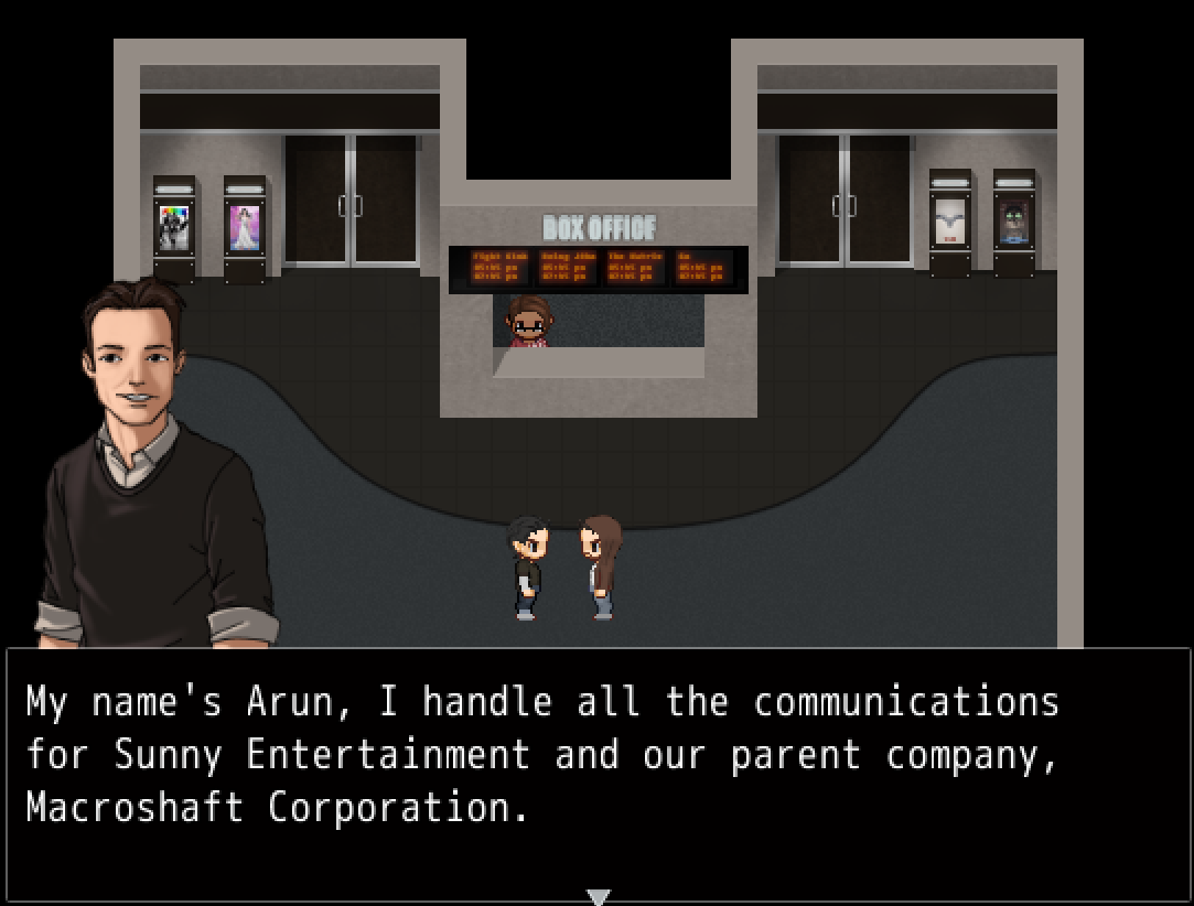 There are a great many not-so-subtle references to the larger games industry.