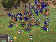 Siege weapons, cavalry, archers, and dozens of other units are available.