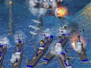 Huge battles are possible in Empire Earth's 3D engine.