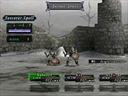The battle interface is reminiscent of many classic RPGs.