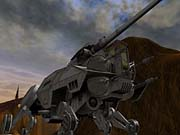 The assault walker looks to be a primitive cousin to the AT-AT.
