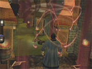 Casting one of the game's elaborate spells.
