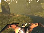 Evolution's flying stages mesh well with the FPS portion of the game.