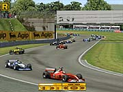 The brothers Schumacher battle each other for first place.