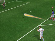 When shot with sufficient force, the ball emits a visible trail.